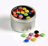 CONF-470 Small Round Window Tin with Choc Beans 170g