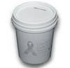 DBS-1.2-WHS 1.2 White Litre Donation Bucket & Lid set