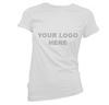TSL-30-W Christina Slim Fit Cotton white T-Shirt, ladies (Printed)
